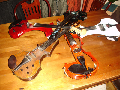 скрипки участников концерта